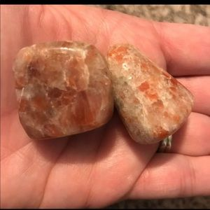 Two Beautiful Sunstone Stones Crystals